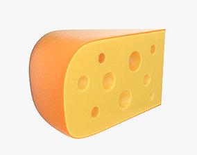 brie 3D model Cheese wedge