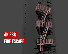 Fire Escape Staircase 3D model