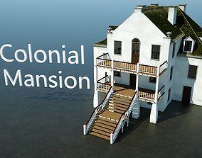 Colonial Mansion 3D model realtime