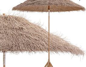 3D Bamboo Umbrella with Banana Leaf