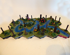 Hexagonille Terrain - Basic dungeons 3D print model