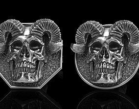 skull earrings studs 2 jewel 3D model