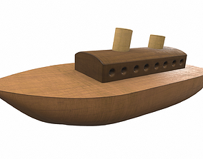 Wooden ship toy 6 3D