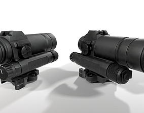 3D asset Aimpoint CompM4s Red Dot Sight