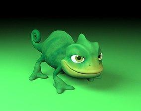 3D asset cartoon chameleon