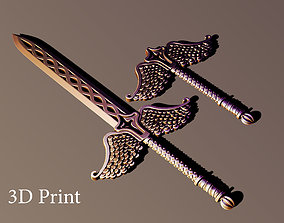 3D printable model Sword scepter