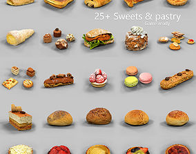 3D model 25 Sweets and Pastry Collection