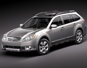 Subaru Outback 2010 3D model 2012