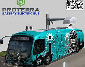 3D asset Proterra electric 40 Foot bus AON center 2