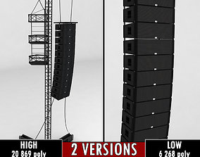 Speaker concert system scaffolding tower array 3D