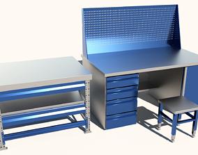 Industrial tables 3D model