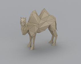 VR / AR ready low-poly 3D printer model Camel
