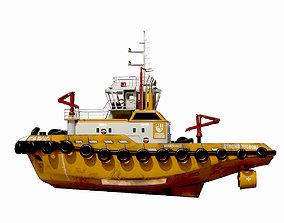 3D asset Tugboat lowpoly