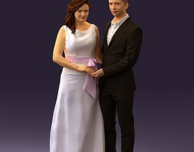 3D Man and woman in dress 0778