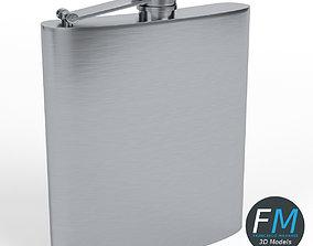 Hip flask 3D model PBR