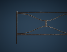 Fence Game Ready 3D model