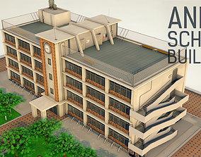 Anime School Building - 3D