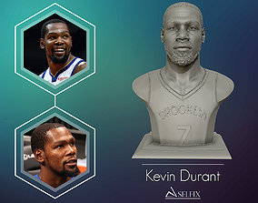 Kevin Durant with Brooklyn Jersey 3D portrait model