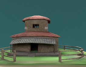 architectural 3D model game-ready village house