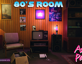 3D asset Low-Poly 80s Room Pack