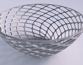 Bowl wide with diagonal grid lattice 3D print model