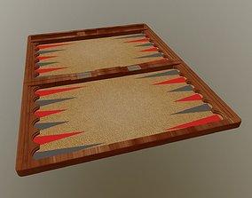3D Backgammon Boards 4 pieces