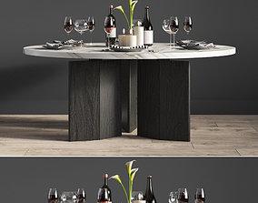 Minotti Morgan Dinning Table 3D
