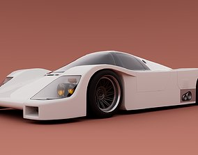 3D asset 80s Group C racecar