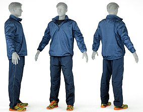 Male Sports Outfit 23 Trainer Footwear 3D asset low-poly
