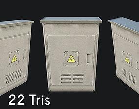 3D asset VR / AR ready Utility Box