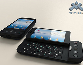 3D HTC Dream G1 Google Android phone - 2008