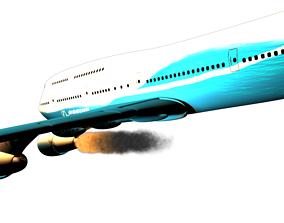 3D model LAST ENGINE AIRCRAFT