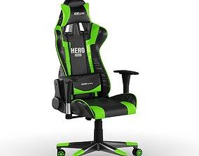 3D model PC Gamer Chair Green Hero