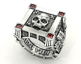 Vampire Skull ring many sizes 3D print model