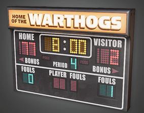 3D asset School Gym Scoreboard - HSG - PBR Game Ready