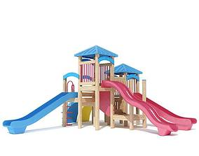 Kid s Playhouse Magenta And Blue 3D