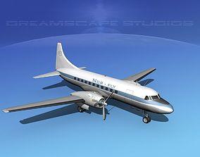 Convair CV-340 Norfly 3D model