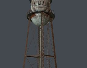 3D model realtime PBR Water Tower