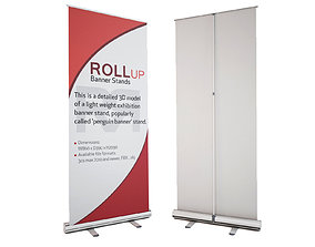 3D model Banner Stand - Roll-up