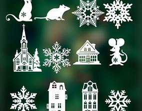 Christmas decorations props 20 3D model