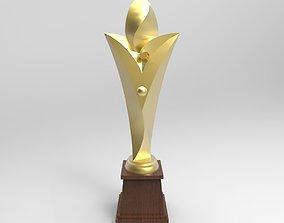 3D asset golden trophy