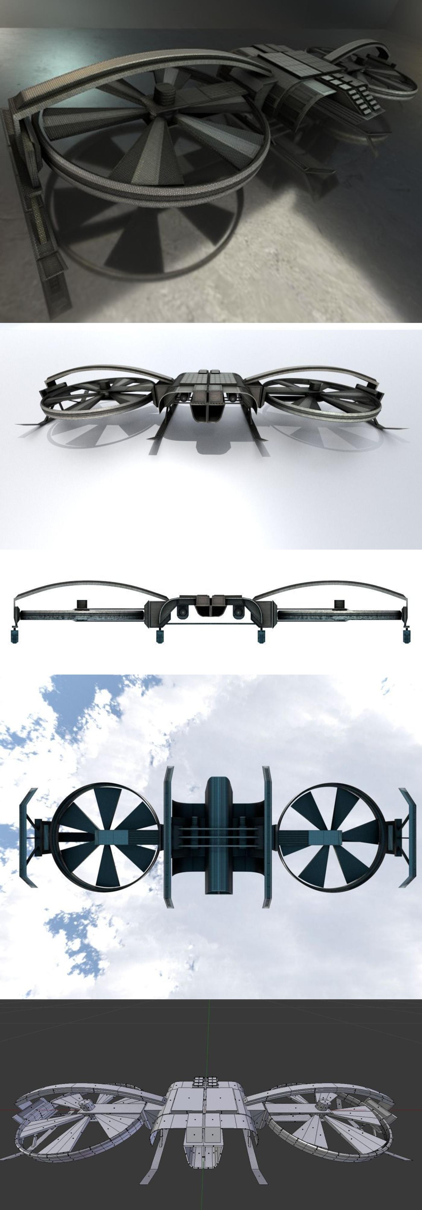 Drone Design - Blender Game Engine