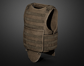 3D asset rigged Army vest