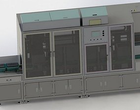 3D Design model of liquid filling equipment for lithium
