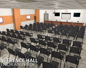 3D model VR / AR ready Conference hall - interior and