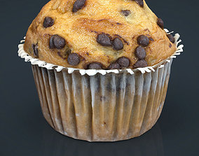 Chocolate chip Cupcake 3D model