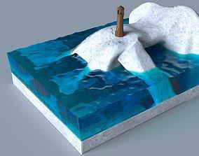 Futuristic Sculpture nature 3D model
