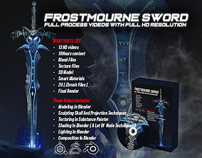 sculpting Frostmourne Sword Full Process and MODEL File
