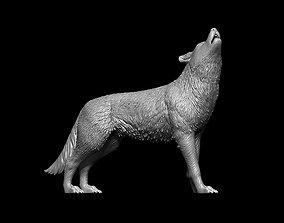 Howling Wolf 3D print model