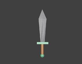 3D model Very Low Poly Sword